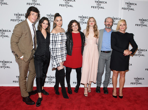 'Dickinson' - 2019 Tribeca TV Festival [red carpet,event,fashion,carpet,premiere,flooring,dress,suit,fashion design,style,adrian enscoe,anna baryshnikov,toby huss,alena smith,hailee steinfeld,ella hunt,l-r,dickinson,tribeca tv festival,screening]