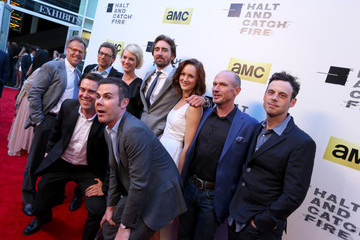 Toby Huss Kerry Bishe 'Halt and Catch Fire' Premieres in Hollywood