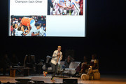 Abby Wambach speaks on stage at Together Live at Taft Theatre on October 23, 2019 in Cincinnati, Ohio.