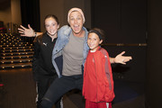 Abby Wambach poses with fans at Together Live at Walton Arts Center on October 18, 2019 in Fayetteville, Arkansas.