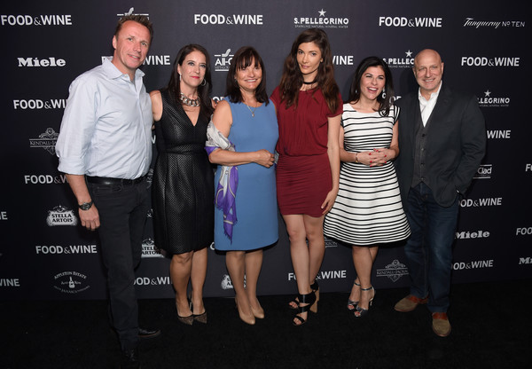 FOOD & WINE 2016 Best New Chefs Event [event,fashion,premiere,dress,little black dress,cocktail dress,white-collar worker,food,l-r,chefs event,event,barbara banke,julia jackson,christina grdovic,marc murphy,tom colicchio,nilou motamed]