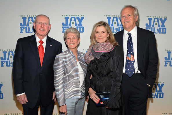 "8th Annual Tom Coughlin ""Champions For Children"" Gala [event,award,suit,management,official,employment,tom coughlin,judy coughlin,susan saint james,dick ebersol,tom coughlin 8th annual,l-r,cipriani 42nd street,new york city,new york football giants,champions for children gala]"