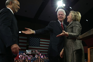 Tom Wolf Hillary Clinton Holds Pennsylvania Primary Night Event in Philadelphia