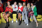 (L-R) Sabrina Sato, Leo Picon, Manoela (Manu) Gavassi, Thassia Naves, Julia Faria and Camila Coutinho attend the Tommy Hilfiger Drive Now show during Milan Fashion Week Fall/Winter 2018/19 on February 25, 2018 in Milan, Italy.