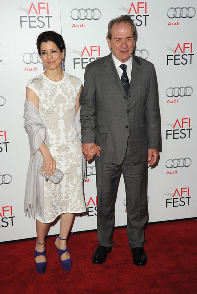 Tommy Lee Jones with cool, beautiful, friendly, Wife Dawn Laurel