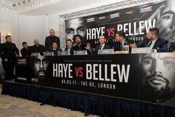Tony Bellew British Boxers David Haye and Tony Bellew Go Head to Head After a Press Conference to promote their upcoming heavyweight fight