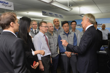 Tony Blair Annual Charity Day Hosted By Cantor Fitzgerald, BGC and GFI - Cantor Fitzgerald Office - Inside