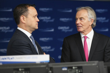 Tony Blair Annual Charity Day Hosted By Cantor Fitzgerald, BGC and GFI - Cantor Fitzgerald Office - Arrivals