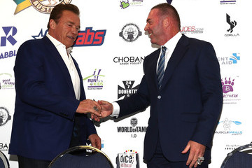 Tony Doherty Arnold Schwarzenegger Arrives For Arnold Sports Festival Australia