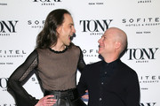 Jordan Roth and Richie Jackson attend the Tony Honors Cocktail Party Presenting The 2019 Tony Honors For Excellence In The Theatre And Honoring The 2019 Special Award Recipients at Sofitel Hotel on June 03, 2019 in New York City.