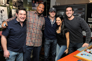 Nicole Biggins Topher Grace Visits SiriusXM