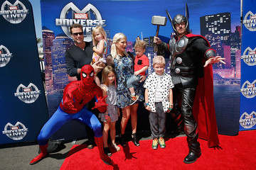 Tori Spelling Marvel Universe LIVE! Celebrity Red Carpet Event