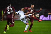 Armando Izzo (R) of Torino FC competes with Fabio Quagliarella of UC Sampdoria during the Serie A match between Torino FC and UC Sampdoria at Stadio Olimpico di Torino on April 3, 2019 in Turin, Italy.