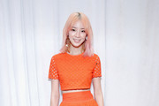 Irene Kim poses backstage Tory Burch FW17 Show during New York Fashion Week at the Whitney Museum of American Art on February 14, 2017 in New York City.