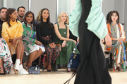 Liya Kebede, Mindy Kaling, Zoe Saldana, Naomi Watts, and Qin Lan attend the Tory Burch Fall Winter 2019 Fashion Show at Pier 17 on February 10, 2019 in New York City.