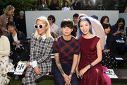 (L-R) Jacey Duprie, Amber J. Liu, and Irene Kim attends the Tory Burch Spring Summer 2018 Fashion Show at Cooper Hewitt, Smithsonian Design Museum on September 8, 2017 in New York City.