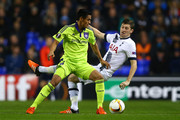Andy Najar of Anderlecht and Ben Davies of Spurs compete for the ball during the UEFA Europa League Group J match between Tottenham Hotspur FC and RSC Anderlecht at White Hart Lane on November 5, 2015 in London, United Kingdom.