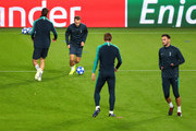 Christian Eriksen of Tottenham Hotspur takes part during a training session ahead of their UEFA Champions League Group B match against PSV at Philips Stadion on October 23, 2018 in Eindhoven, Netherlands.