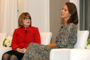 Nancy Brown, Chief Executive Officer of the American Heart Association, speaks with Christy Turlington Burns, Founder of Every mother Counts, at the Town & Country Third Annual Philanthropy Series: Dallas at Hotel Crescent Court on October 29, 2019 in Dallas, Texas.