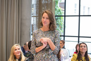 Nancy Rogers (L) and Christy Turlington Burns attend philanthropic luncheon at Forty Five Ten on October 29, 2019 in Dallas, Texas.