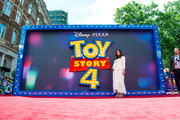 """Myleene Klass attends the """"Toy Story 4"""" European Premiere at Odeon Luxe Leicester Square on June 16, 2019 in London, England."""