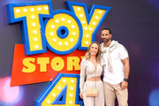 "Rio Ferdinand (R) and Kate Wright attend the ""Toy Story 4"" European Premiere at Odeon Luxe Leicester Square on June 16, 2019 in London, England."