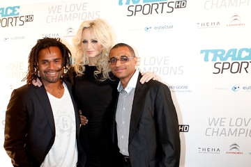 Adriana Karembeu Christian Karembeu Trace Sports Pre-Launch Party at Football World Cup