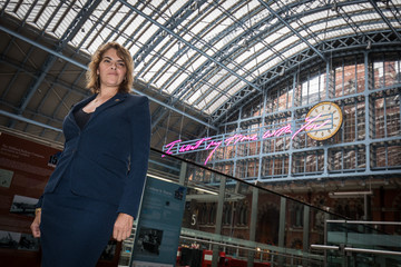 Tracey Emin Royal Academician Tracey Emin Unveils Her 2018 Artwork For Terrace Wires Commission At St Pancras International