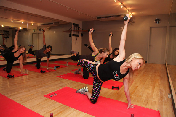 Tracy Anderson Trains in NYC
