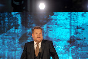James Corden speaks onstage during the Transformative Medicine of USC: Rebels with a Cause GALA at  on October 24, 2019 in Santa Monica, California.
