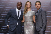 "Actor Tyrese Gibson (L), actress Rosie Huntington-Whiteley and actor Shia LaBeouf attend the ""Transformers 3"" European premiere on June 25, 2011 in Berlin, Germany."