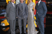 "(From L to R) Actor Patrick Dempsey, actor Shia LaBeouf, actress Rosie Huntington-Whiteley and actor Tyrese Gibson attend the ""Transformers 3"" European premiere on June 25, 2011 in Berlin, Germany."