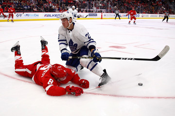 Travis Dermott Toronto Maple Leafs v Detroit Red Wings