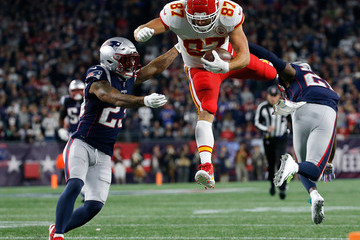 Travis Kelce Kansas City Chiefs vs. New England Patriots