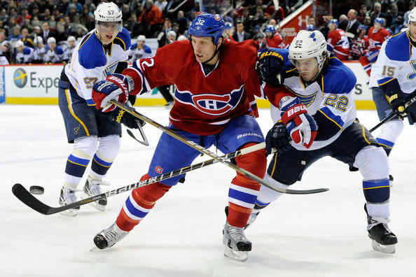 Travis Moen - St Louis Blues v Montreal Canadiens