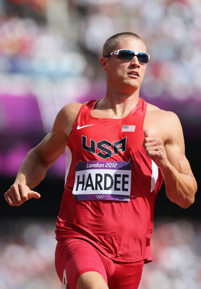 Trey Hardee Trey Hardee of the United States competes in the Men's Decathlon 100m Heats on Day 12 of the London 2012 Olympic Games at Olympic Stadium on August 8, 2012 in London, England.
