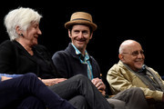 Olympia Dukakis, Denis O'Hare and George Morfogen speak on stage at the Tribeca Talks After The Movie: Starring Austin Pendleton at SVA Theatre 2 on April 21, 2016 in New York City.