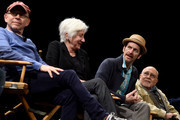 Bob Balaban, Olympia Dukakis, Denis O'Hare and George Morfogen speak on stage at the Tribeca Talks After The Movie: Starring Austin Pendleton at SVA Theatre 2 on April 21, 2016 in New York City.