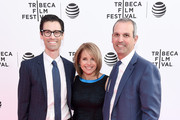 Jason Grant Smith, Katie Couric and John Molner attend the Tribeca Talks After The Movie: I Voted? at SVA Theatre 2 on April 21, 2016 in New York City.