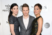 Julianna Margulies, Matt Czuchry and Cush Jumbo attend the Tribeca Tune In: The Good Wife at BMCC John Zuccotti Theater on April 17, 2016 in New York City.