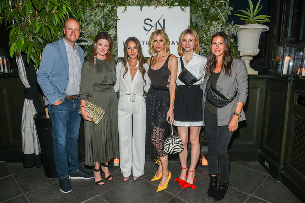 Nordstrom Celebrates The SOMETHING NAVY Brand Launch At The Gramercy Park Hotel [social group,event,fun,team,party,jamie nordstrom,arielle charnas,whitney casey,tricia smith,brooklyn decker,l-r,gramercy park hotel,nordstrom celebrates the something navy brand launch,nordstrom,dinner]