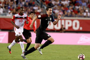 Sacha Kljestan #16 of the United States drives toward the goal during the FIFA 2018 World Cup Qualifier against Trinidad & Tobago at EverBank Field on September 6, 2016 in Jacksonville, Florida.