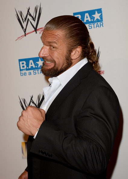 WWE SummerSlam VIP Kick-Off Party [facial hair,forehead,suit,premiere,event,white-collar worker,beard,formal wear,moustache,tuxedo,kick-off party,summerslam vip,beverly hills hotel,california,wwe,wwe superstar triple h]