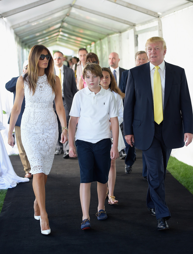 Barron Trump Photos Photos - Trump Invitational Grand Prix ...