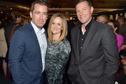 (L-R) Jason Jones, Samantha Bee, and Ed Burns attend the Turner Upfront 2015 at Madison Square Garden on May 13, 2015 in New York City.