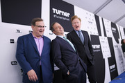 (L-R) Andy Richter, Jake Tapper, and Conan O'Brien attend the Turner Upfront 2017 arrivals on the red carpet at The Theater at Madison Square Garden on May 17, 2017 in New York City. 26617_003