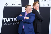 Andy Richter (L) and Conan O'Brien attend the Turner Upfront 2017 arrivals on the red carpet at The Theater at Madison Square Garden on May 17, 2017 in New York City. 26617_003