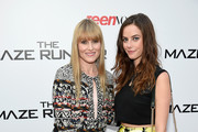 Editor in chief of Teen Vogue Amy Astley (L) and actress Kaya Scodelario attends the 'Maze Runner' New York City screening hosted by Twentieth Century Fox and Teen Vogue at SVA Theater on September 15, 2014 in New York City.