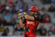 Daniel Harris of the Redbacks bats during the Twenty20 Big Bash match between the Victorian Bushrangers and the South Australian Redbacks at Melbourne Cricket Ground on January 28, 2011 in Melbourne, Australia.