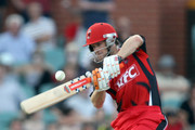 Daniel Harris of the Redbacks bats during the Twenty20 Big Bash match between the South Australian Redbacks and the Queensland Bulls at Adelaide Oval on January 20, 2011 in Adelaide, Australia.